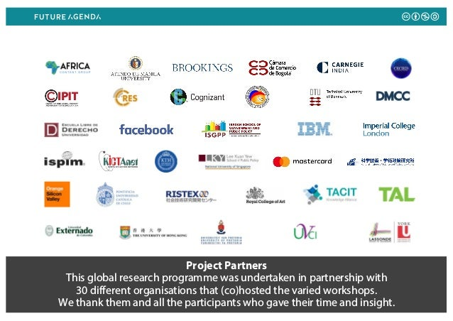 Project Partners This global research programme was undertaken in partnership with 30 different organisations that (co)hos...