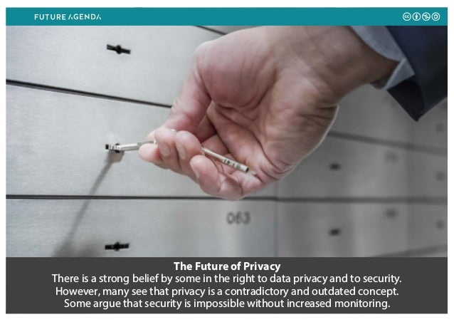 The Future of Privacy There is a strong belief by some in the right to data privacy and to security. However, many see tha...