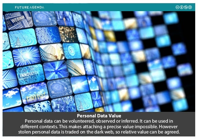 Personal Data Value Personal data can be volunteered, observed or inferred. It can be used in different contexts. This mak...