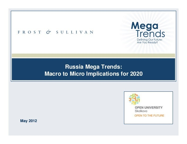 Russia Mega Trends: Macro to Micro Implications for 2020  May 2012 1