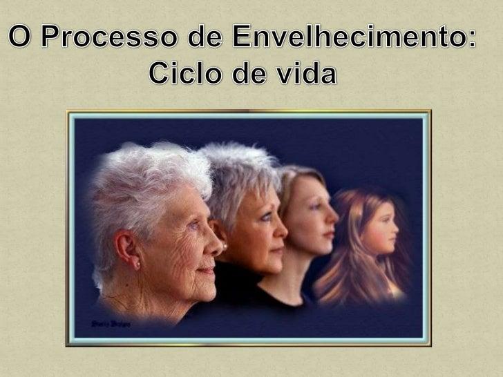 O Processo de Envelhecimento:<br />Ciclo de vida<br />