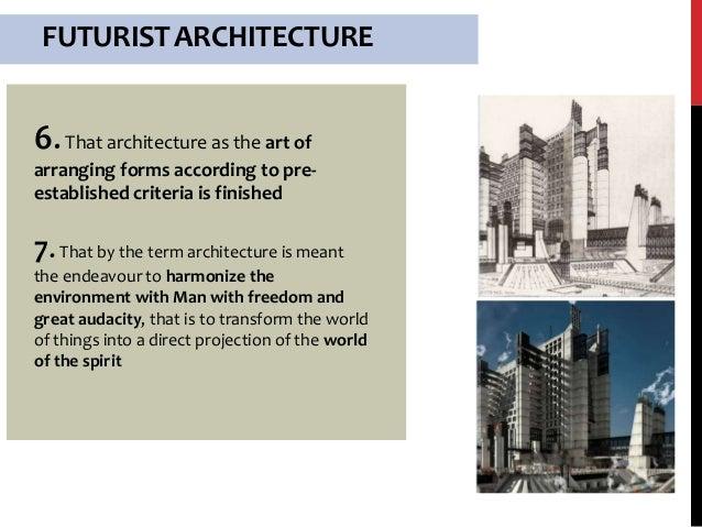 Futurism architecture.