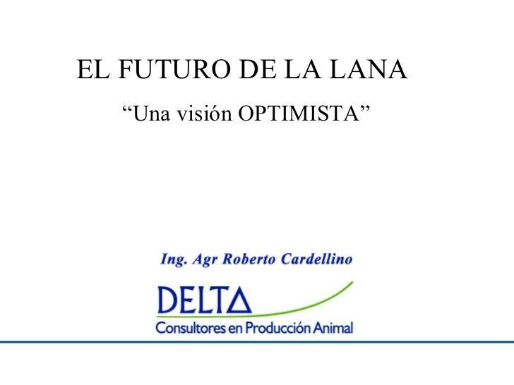 """EL FUTURO DE LA LANA  """"Una visión OPTIMISTA"""""""