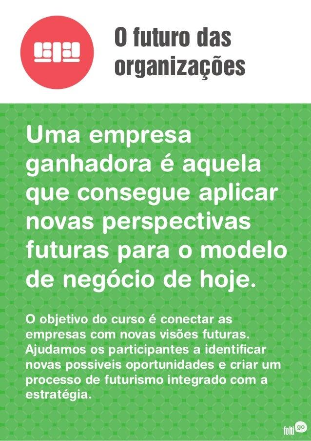 O futuro das             organizaçõesUma empresaganhadora é aquelaque consegue aplicarnovas perspectivasfuturas para o mod...