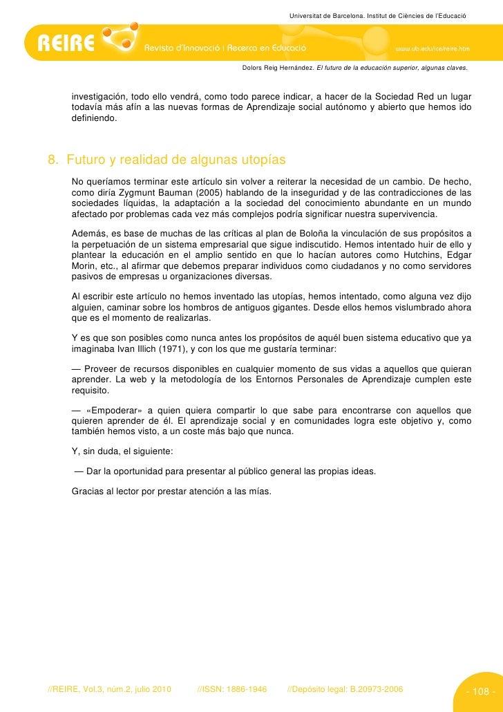 Universitat de Barcelona. Institut de Ciències de l'Educació                                                     Dolors Re...