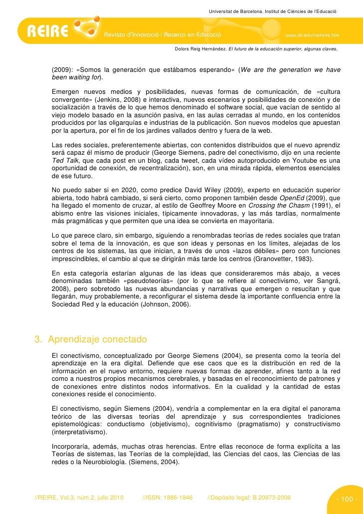 Universitat de Barcelona. Institut de Ciències de l'Educació                                                   Dolors Reig...