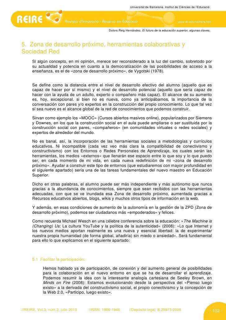 Universitat de Barcelona. Institut de Ciències de l'Educació                                                       Dolors ...