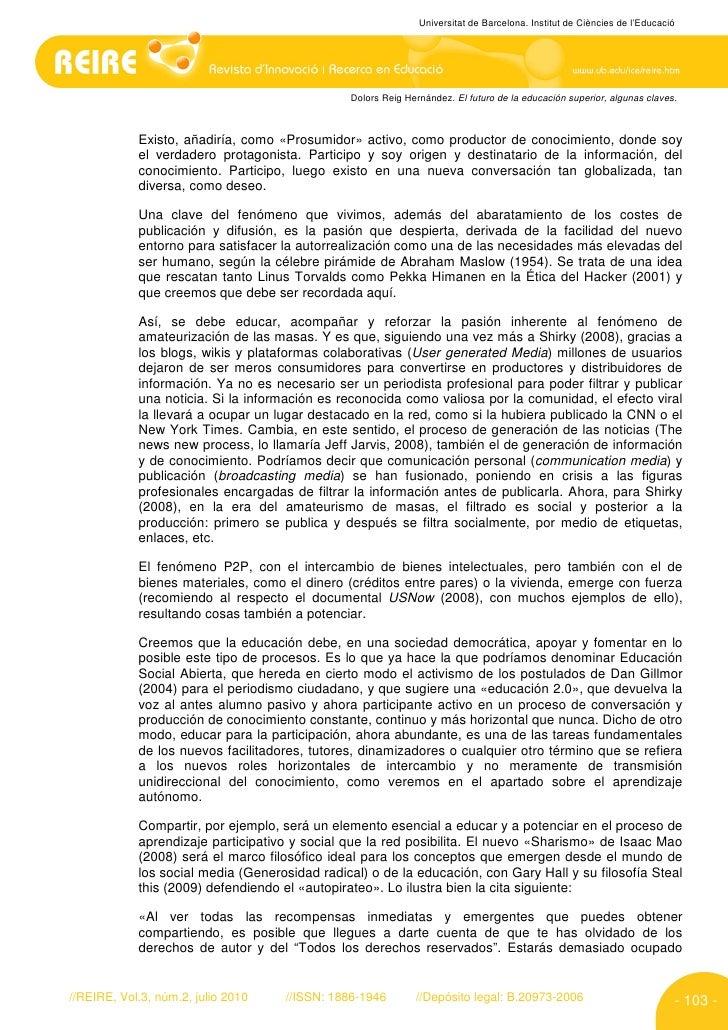 Universitat de Barcelona. Institut de Ciències de l'Educació                                                    Dolors Rei...