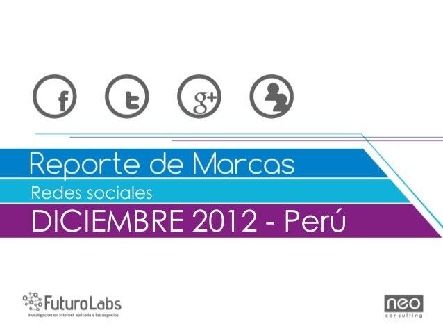 Redes socialesDICIEMBRE 2012 - Perú