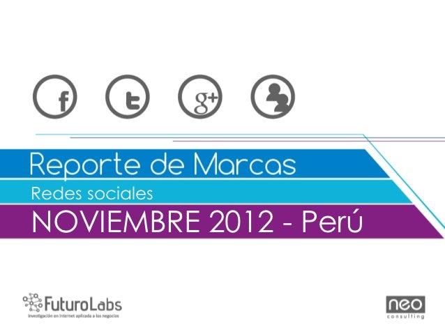Redes socialesNOVIEMBRE 2012 - Perú