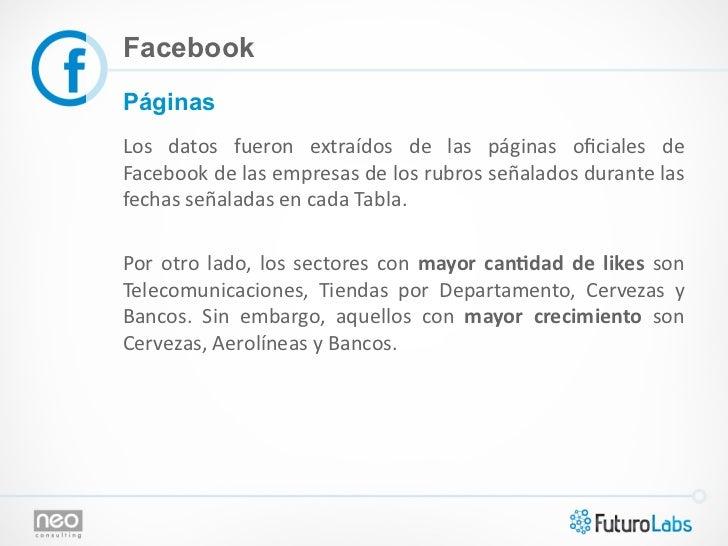 FacebookPáginasLos  datos  fueron  extraídos  de  las  páginas  oficiales  de Facebook de las empre...