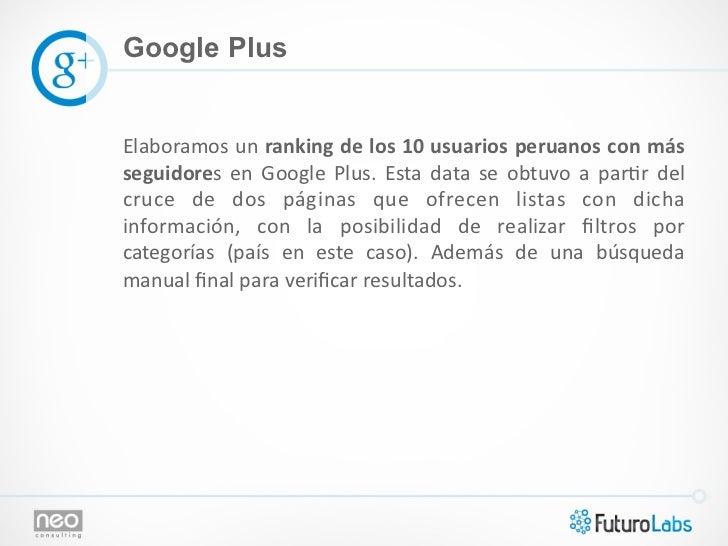 Google PlusElaboramos un ranking de los 10 usuarios peruanos con más seguidores  en  Google  Plu...