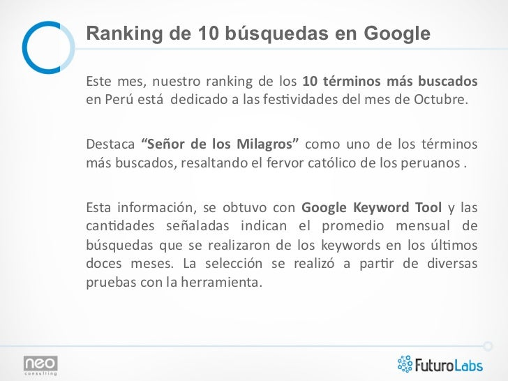 Ranking de 10 búsquedas en GoogleEste  mes,  nuestro  ranking  de  los  10  términos  más  buscados en...