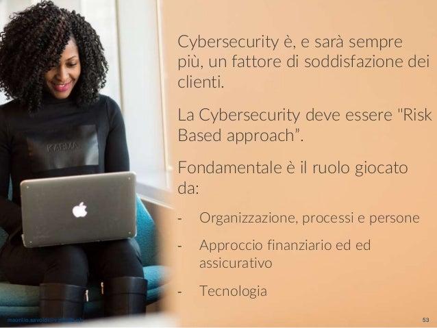 maurilio.savoldi@value4b.ch 53 Cybersecurity è, e sarà sempre più, un fattore di soddisfazione dei clienti. La Cybersecuri...