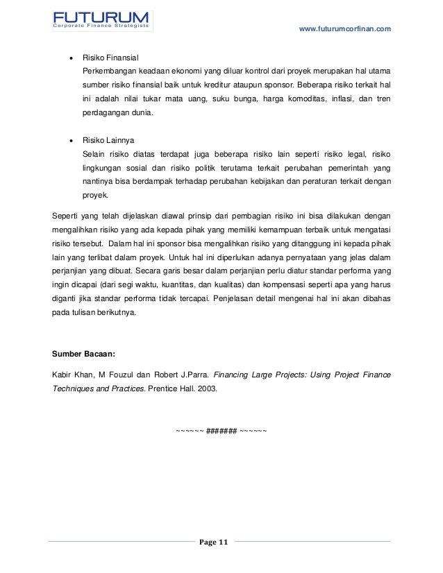 pengenalan project finance bagian 1