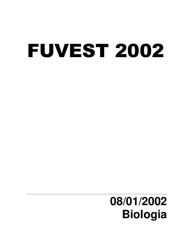 FUVEST 2002  08/01/2002 Biologia