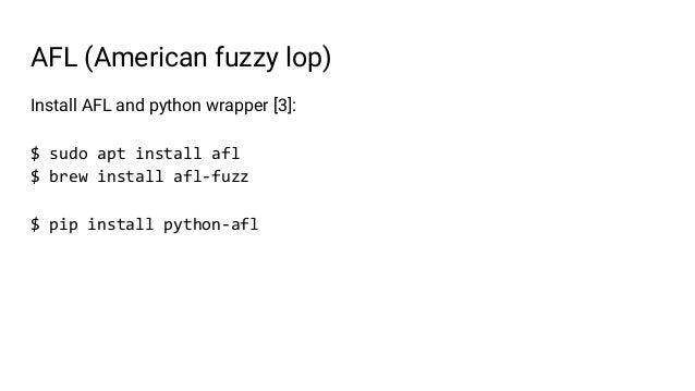 Fuzzing python modules