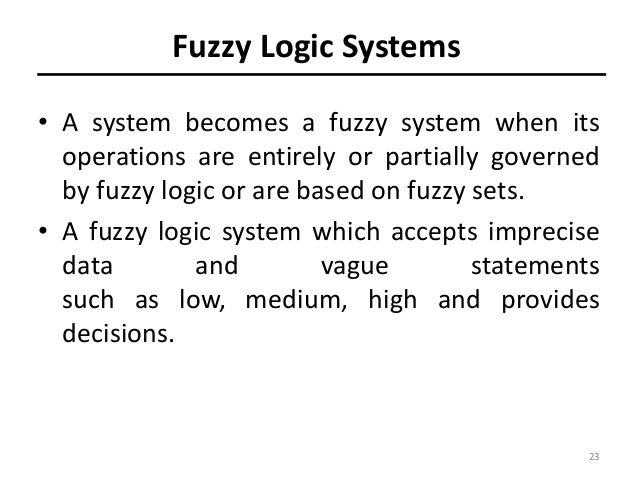 Fuzzy logic Notes AI CSE 8th Sem