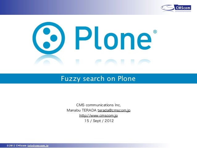 Fuzzy search on plone