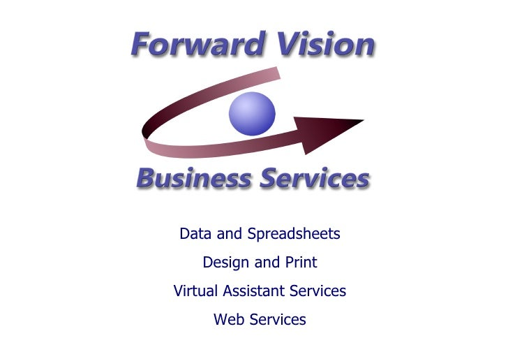 Data and Spreadsheets Design and Print Virtual Assistant Services Web Services