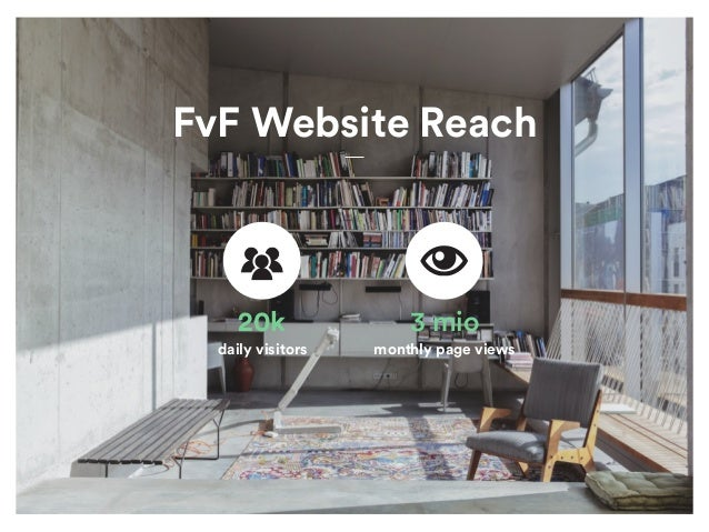 FvF Website Reach 20k daily visitors 3 mio monthly page views