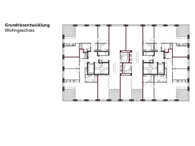 Grundrissentwicklung Wohngeschoss