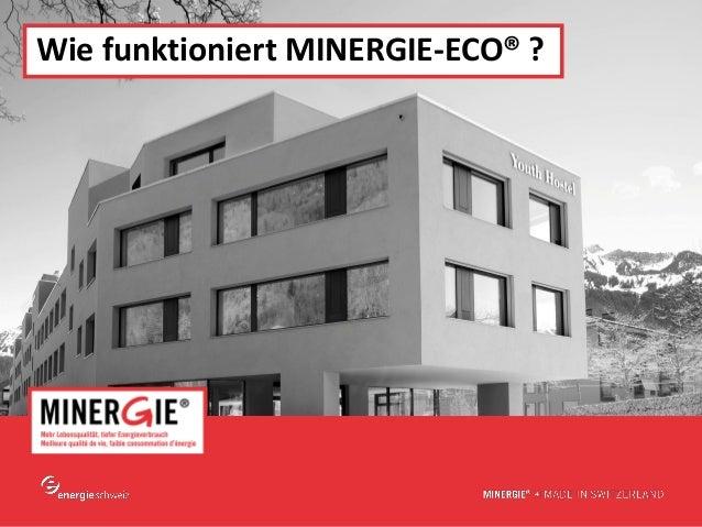www.minergie.ch Wie funktioniert MINERGIE-ECO® ?