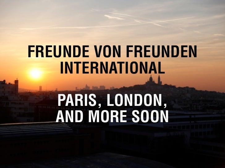 FvF INTERNATIONALPARIS, LONDON ...