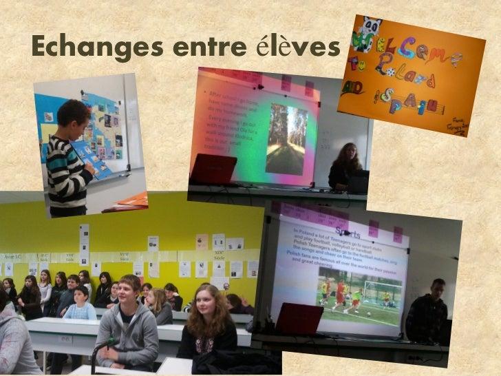 Echanges entre élèves