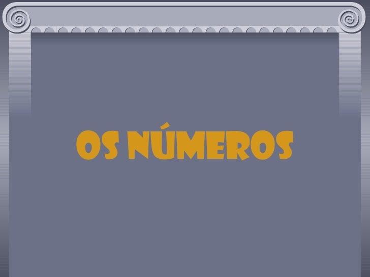 os números