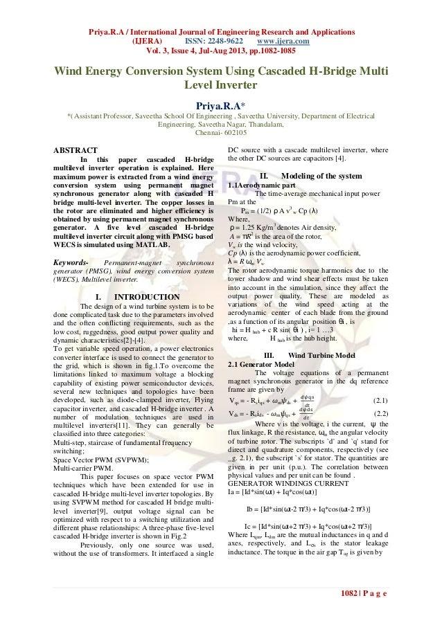 Priya.R.A / International Journal of Engineering Research and Applications (IJERA) ISSN: 2248-9622 www.ijera.com Vol. 3, I...