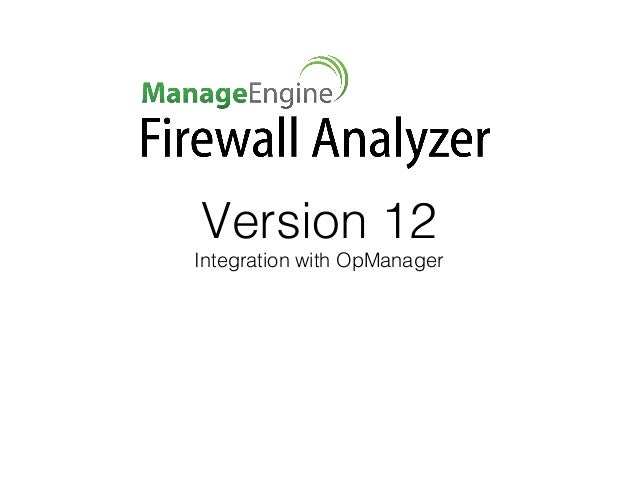 Version 12 Integration with OpManager