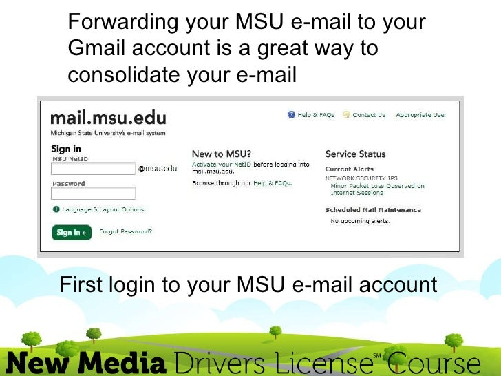combining your gmail and msu e mail 2