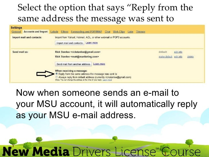 combining and forwarding your msu email to your gmail