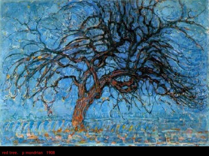 red tree.  p mondrian  1908