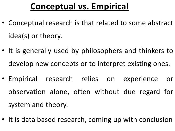 conceptual vs empirical research pdf