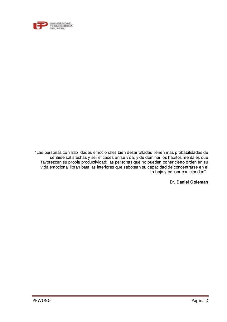 INTELIGENCIA EMOCIONAL Y AUTOCONTROL POR FANNY JEM WONG Slide 2