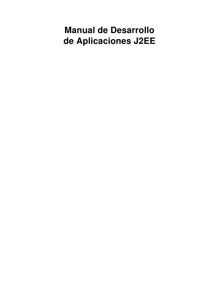 Manual de Desarrollode Aplicaciones J2EE