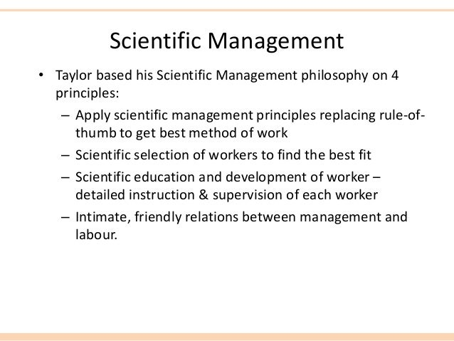 fw tylor Scientific management approach was developed by frederick w taylor in the  late 19th century this management approach can be defined as.
