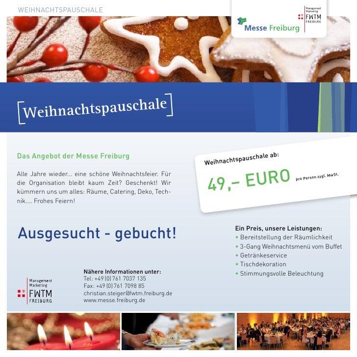 Weihnachtspauschale                                                     le  WeihnachtspauschaDas Angebot der Messe Freibur...