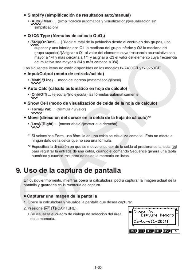 manual de casio 9860g sd