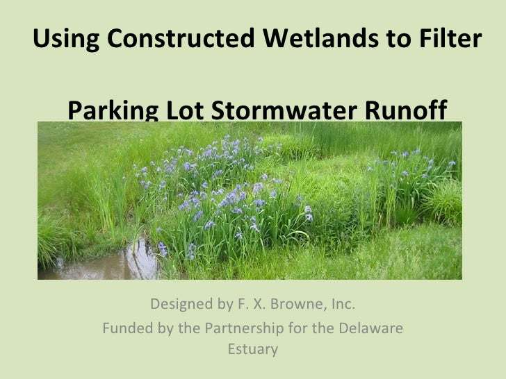 Using Constructed Wetlands to Filter  Parking Lot Stormwater Runoff Designed by F. X. Browne, Inc. Funded by the Partnersh...