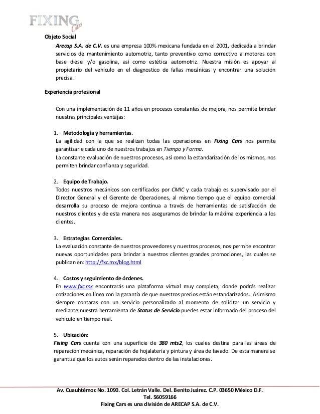 Fxc currículum empresarial