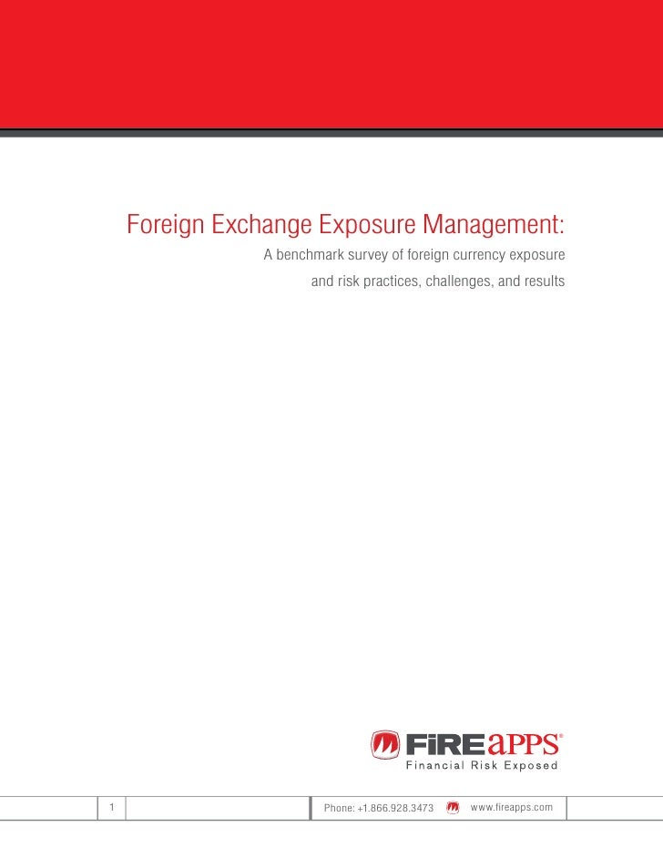 Foreign Exchange Exposure Management:                A benchmark survey of foreign currency exposure                      ...