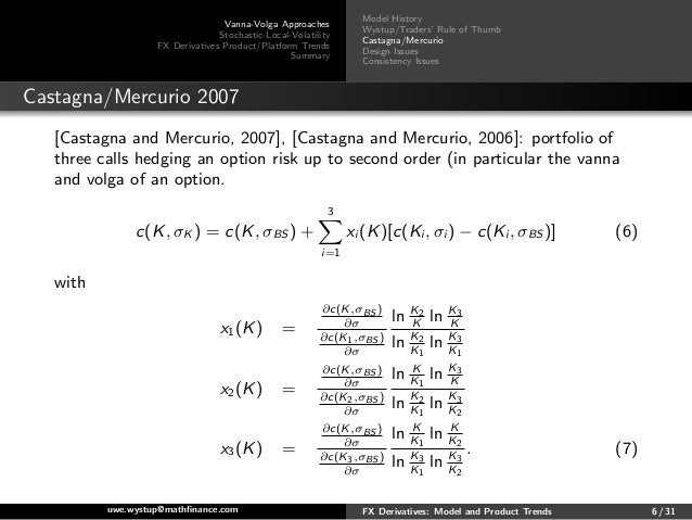 Consistent pricing of fx options mercurio
