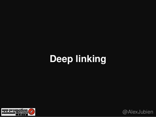 Deep linking @AlexJubien