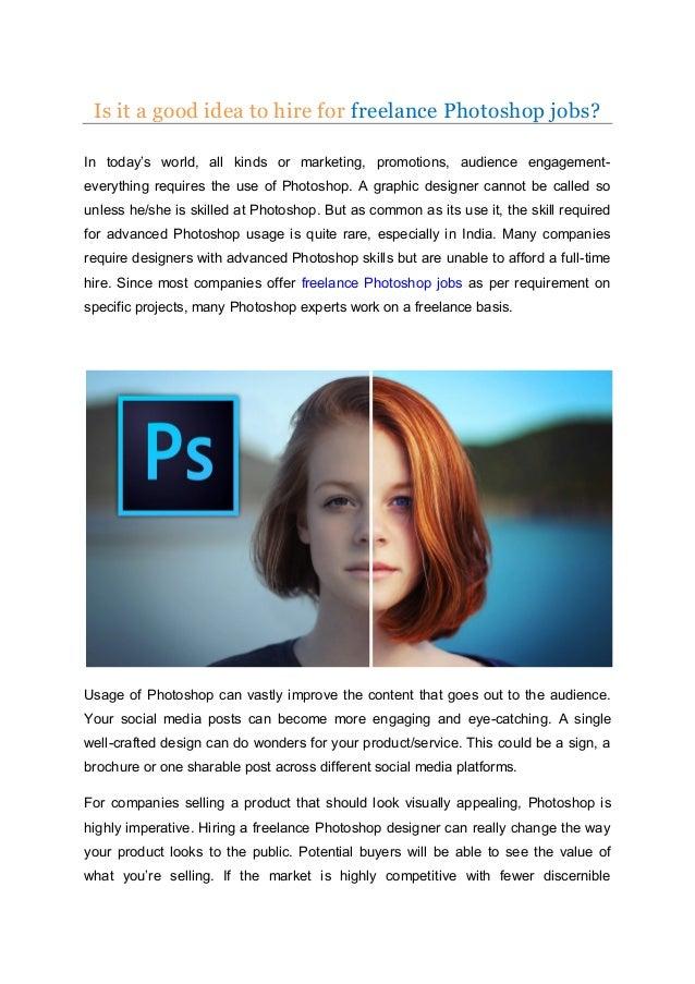 Freelance Photoshop Jobs