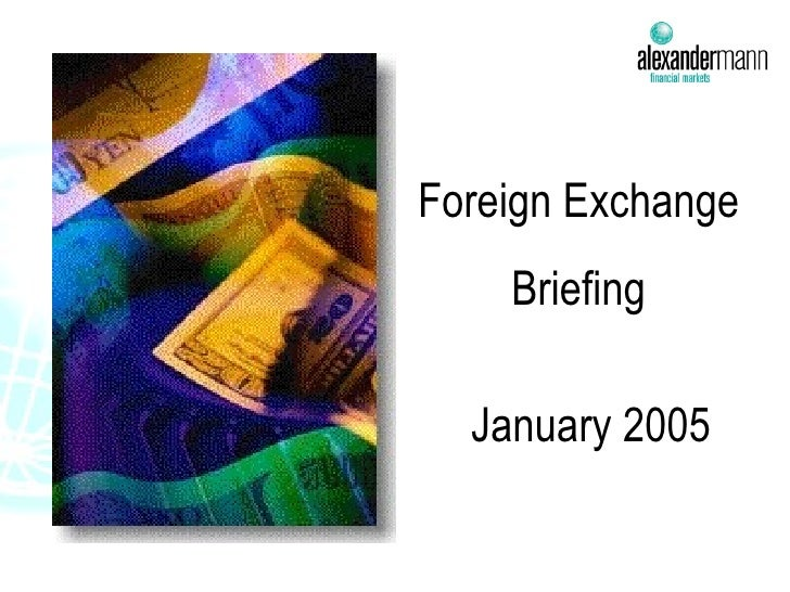 Foreign Exchange  Briefing January 2005