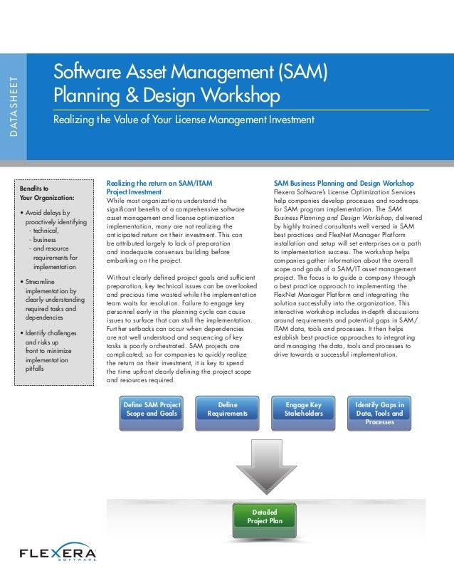 Software Asset Management Sam Planning Design Workshop