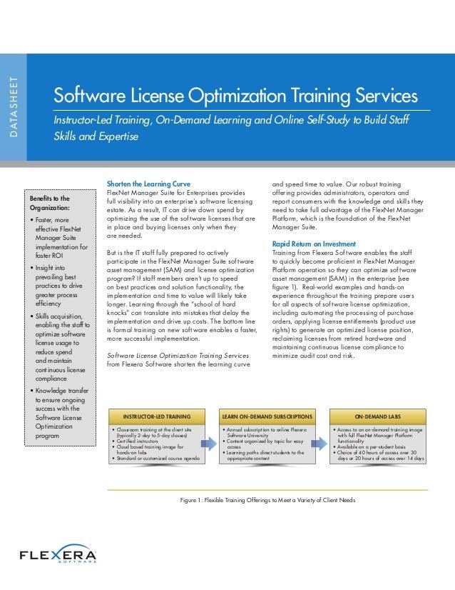 Shorten the Learning Curve FlexNet Manager Suite for Enterprises provides full visibility into an enterprise's software li...